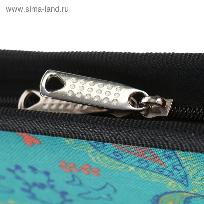 Папка А2 с ручками текстиль 650 х 450 х 40 мм, 2В21 «Вдохновение», с карманом, «Весна»