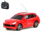 Машина радиоуправляемая «Каен», работает от батареек, цвет красный
