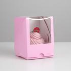 Упаковка под один капкейк с окном,  фиолетовая, 12,5 х 9,5 х 9,5 см