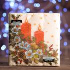 """Новогодние салфетки бумажные Classic """"Свечи"""", 1 слой, 33*33 см, 50 листов"""