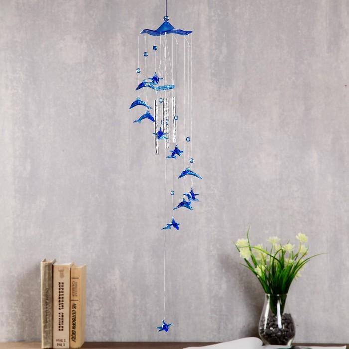 Музыка ветра Дельфины 4 трубочки, 11 фигурок