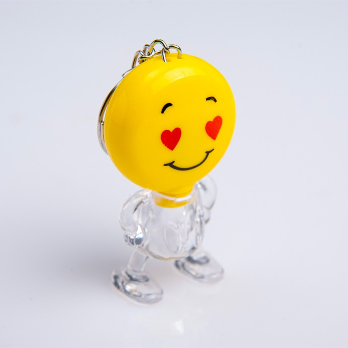 Фонарик-брелок Смайлик, 1 LED, 3х5.5 см, микс