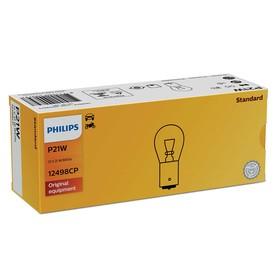 Лампа автомобильная Philips, P21W, 12 В, 21 Вт, 12498CP