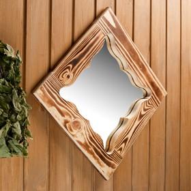 Зеркало резное 'Бабочка', сосна, обожжённое, 40×40 см Ош
