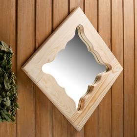 Зеркало резное 'Бабочка', сосна, 40×40 см Ош