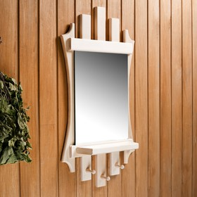 Зеркало резное 'Лесенка' с 3мя крючками, 75×40 см Ош