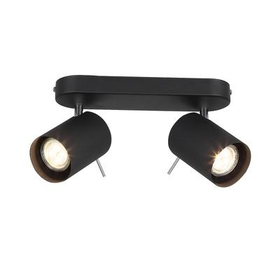 Светильник FANALE, 2x3Вт GU10 LED, цвет чёрный, хром
