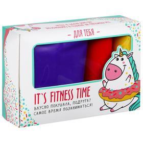 Фитнес набор Fitness time: лента-эспандер, набор резинок, инструкция, 10,3 × 6,8 см Ош