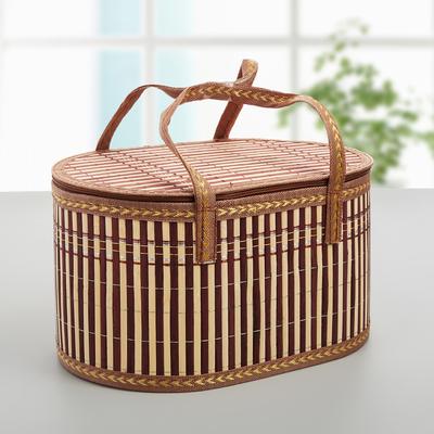 Корзина для хранения, бамбук, цвет коричневый