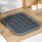 Поднос с вкладышем для сушки посуды «Колос», 45,5×36 см, цвет МИКС - Фото 2