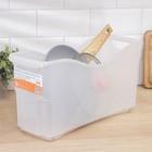 Контейнер для хранения хозяйственный на колёсиках, 10 л, 45×15×23 см, прозрачный - Фото 2