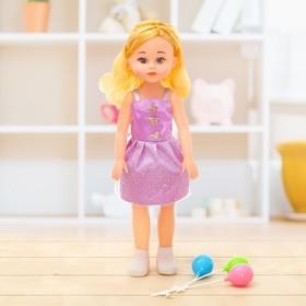 Кукла «Даша» в платье, с аксессуаром, высота 39 см, цвета МИКС Ош