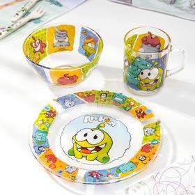 Набор посуды детский Priority «Ам Ня», 3 предмета