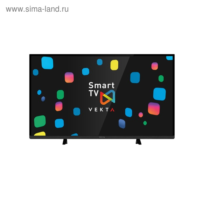 "Телевизор Vekta LD-43TF5515BS, LED, 43""/109 см, Full HD 1920х1080, Smart TV, черный"