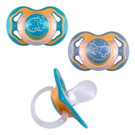 Соска-пустышка силиконовая Мир детства, ночная, каплевидная, от 6 месяцев, 1 шт., цвет МИКС   467155