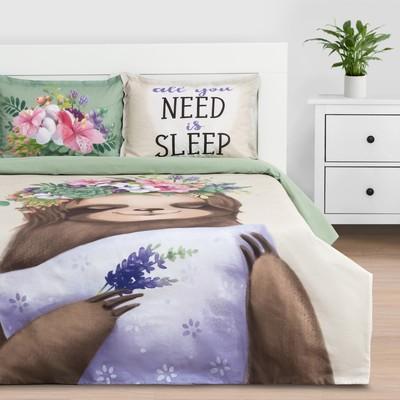 """Постельное белье """"Этель"""" 1.5 сп Need is sleep 143*215 см,150*214 см, 50*70+3 - 2 шт - Фото 1"""