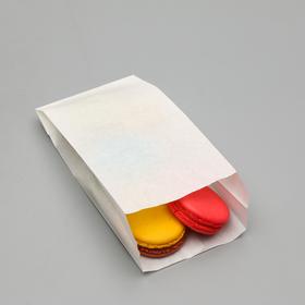 Пакет бумажный фасовочный, белый, V-образное дно, 21 х 10 х 5 см