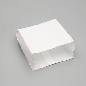Пакет бумажный фасовочный, белый,  V-образное дно, 25 х 20 х 9 см