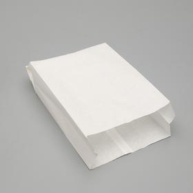 Пакет бумажный фасовочный, белый, V-образное дно, 30 х 17 х 7 см