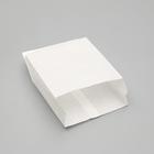 Пакет бумажный фасовочный, белый, V-образное дно, 22,5 х 14 х 6 см