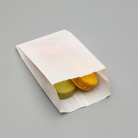 Пакет бумажный фасовочный, белый, V-образное дно, 17,5 х 10 х 5 см Ош