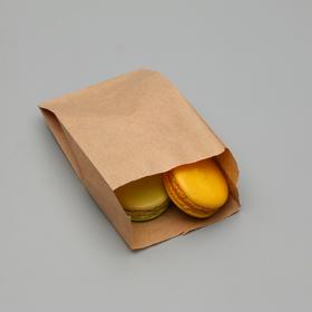 Пакет бумажный фасовочный, крафт, V-образное дно, 17,5 х 10 х 5 см Ош