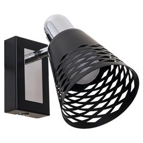 Светильник 3408/1 1х40Вт Е14 черный 10х18х16см