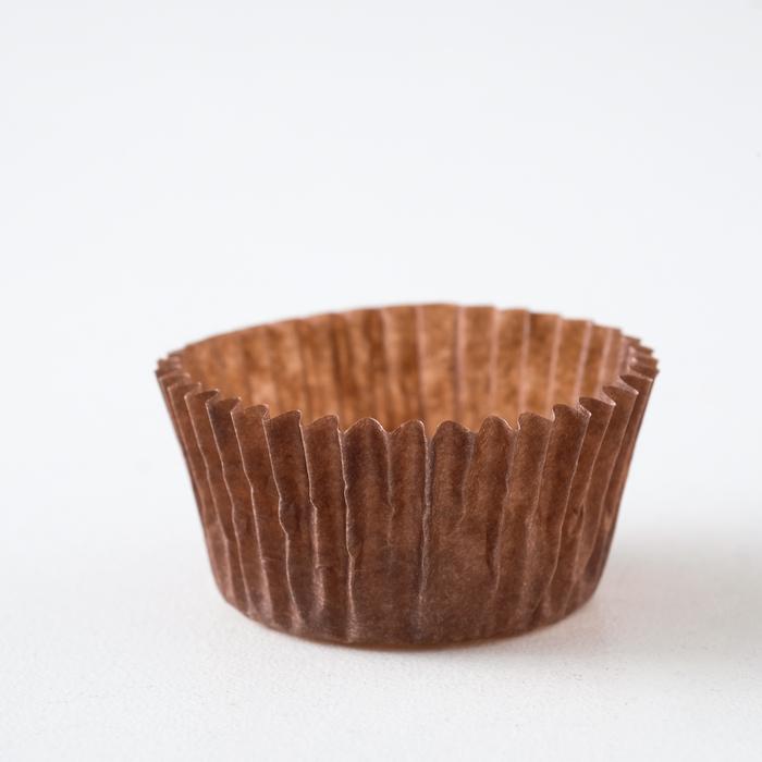 Тарталетка, коричневая, 3 х 1,8 см