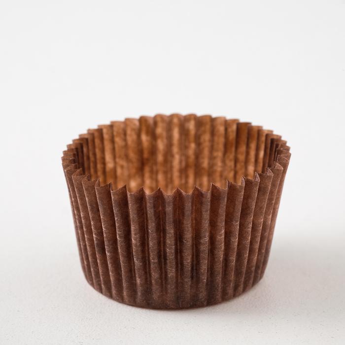 Тарталетка, коричневая, 3,5 х 2,5 см