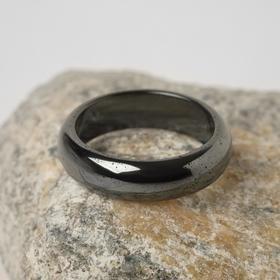 Кольцо 'Гематит' гладкий, 5-6мм, цвет серый, размер МИКС Ош