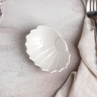 Блюдо «Ракушка», 9×7×3 см, цвет белый - Фото 2