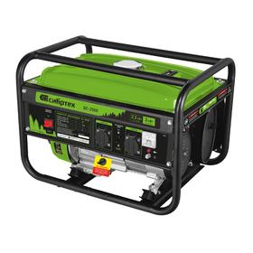 Генератор бензиновый 'Сибртех' БС-2500 94542, 2200 Вт, 230 В, 15 л, ручной стартер Ош