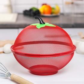 Сито с крышкой для хранения продуктов Доляна «Вкус», d=25 см, цвет МИКС Ош