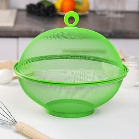 Сито с крышкой для хранения продуктов Доляна «Вкус», d=29 см, цвет МИКС Ош