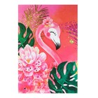 Блокнот А6, 24 листа на скрепке Calligrata «Фламинго – 1», картонная обложка