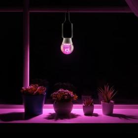 Светодиодная лампа для растений ( фитолампа ) Luazon 7 Вт, E27, 220В Ош