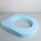 Сиденье для уличного туалета пенопласт, цвет голубой