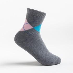 Носки детские махровые Ftа-129-L-12 51 3,цвет серый, р-р 16-18