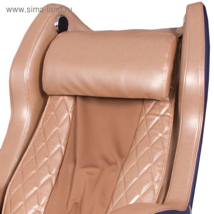 Массажное кресло GESS-800 Bend, 2 автопрограммы, 6 видов массажа,сине-бежевое