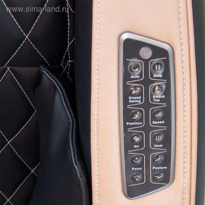 Массажное кресло GESS-800 Bend, 2 автопрограммы, 6 видов массажа, коричнево-бежевое