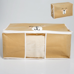 Короб для хранения с pvc-окном «Медведь» Ош