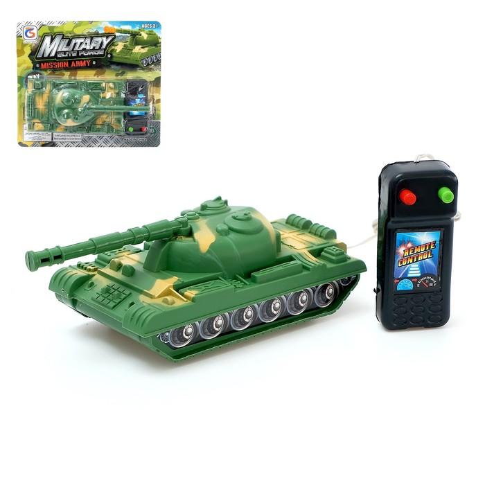 """Танк """"Тигр"""", на дистанционном управлении, работает от батареек, МИКС"""