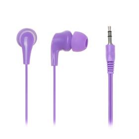 Наушники Perfeo NOVA, вакуумные, 103 дБ, 16 Ом, 3.5 мм, 1.2 м, фиолетовые