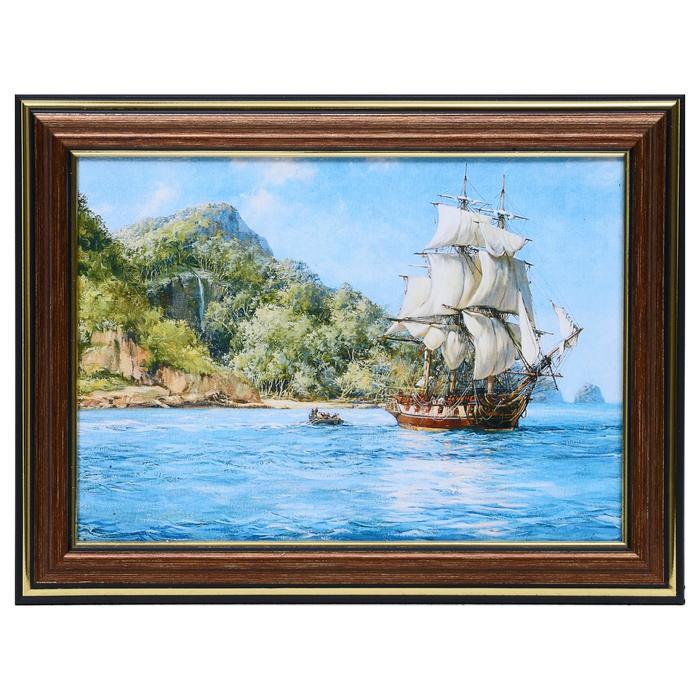 Картина Корабль 21х16 см