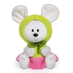 Мягкая игрушка «Мышка Пшоня» в платье с капюшоном, 15 см