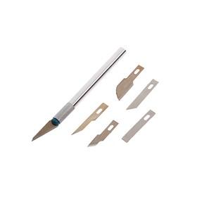 Нож макетный LOM, металлическая ручка, 6 лезвий