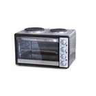 Мини-печь Zarget ZMO 35SH, 1400 Вт, 33 л, макс. 250 °С, +2 конфорки, серебристая