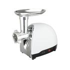 Мясорубка Zarget ZMG 2250R, электрическая, 1500 Вт, 1.8 кг/мин, 3 диска, реверс, белая
