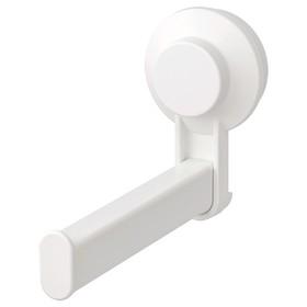 Держатель туалетной бумаги на присоске ТИСКЕН, цвет белый Ош