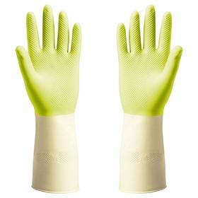 Резиновые перчатки ПОТКЕС, размер M, цвет зелёный